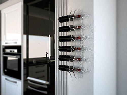 Portabottiglie vino da parete in plexiglass mod montepulciano - Porta vino da parete ...