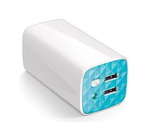 TP-Link TL-PB10400 Caricabatterie Portatile, Batteria Esterna, Capacità 10400 mAh, 2 Porte USB, 1 Porta Micro USB, LED Torcia