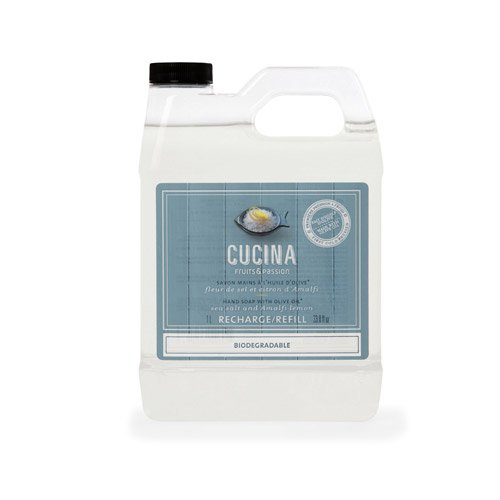 Cucina Hand Soap (Cucina Hand Soap Refill, Sea Salt & Amalfi Lemon by Cucina)