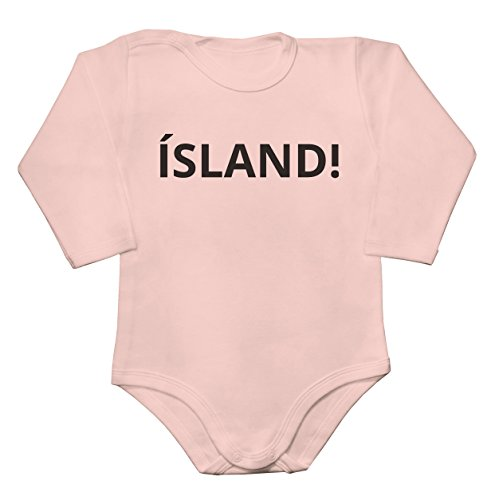 Finest Prints Island ! Iceland Football Go Euro 2016 Slogan Baby Long Sleeve Romper Bodysuit Babyspielanzug Large Sterling Baby Cup