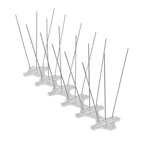WARKHOME 3 Reihig Edelstahl Taubenabwehr Vogelabwehr Taubenspikes sehr stabil 2.4m Profiqualität Vogel Spikes   Taubenspikes aus Edelstahl
