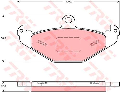 TRW Automotive AfterMarket GDB1494 Kit Pastiglie Freno, Freno A Disco