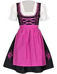 TR Martha Dirndl 3 TLG.Trachtenkleid Kleid, Bluse, Schürze, Gr. 34-46 in den Farbe schwarz blau - schwarz pink - schwarz rot - Trachten Dirndl Damen