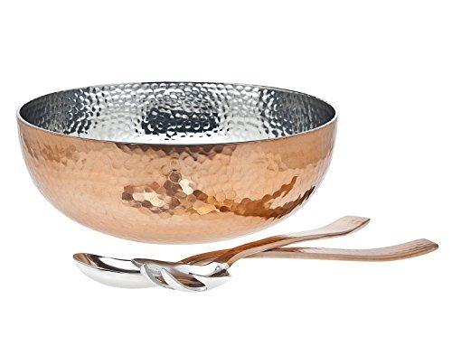 Godinger Hammered Bowl with server, Copper by Godinger - Godinger Server