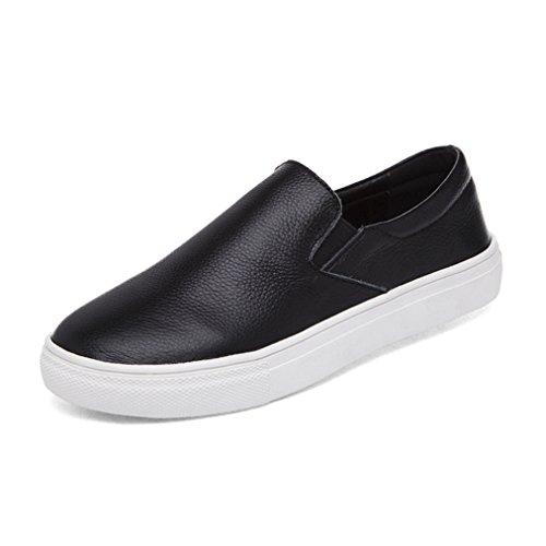 Dos Simples Deslizamento Conforto Pés Sapatos De Planas Dedos Baixas Alguns Deslizador Loafer branco Preto Respirável Em Senhora rgRw6Ygq