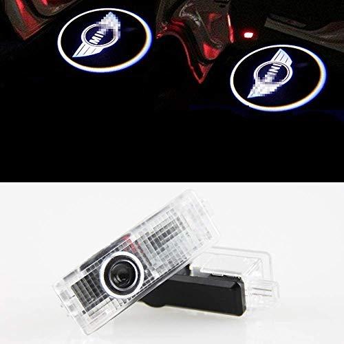 OKAWADACH Proiettore per auto a LED, Luci di benvenuto per portiera dell'auto, 2 pz