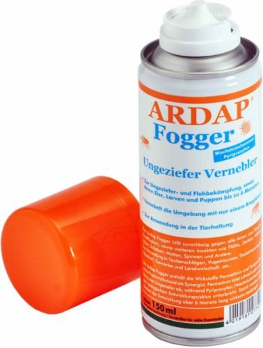 Quiko Ardap FOGGER Das ORIGINAL! Ungeziefer Vernebler gegen Insekten / Flöhe, 6 x 150ml