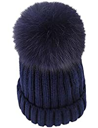 Boomly Autunno e Inverno Carino Calda Cappello con Pompon Cappelli in  Lavorato a Maglia Berretti da eee1ae2e5b2b