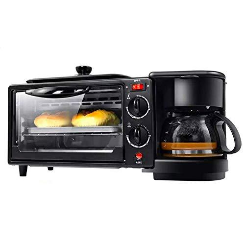 DXDCV 3-in-1-Multifunktions-Frühstücks-Hub (Toaster, Bratpfanne, Multi-Cup-Kaffeemaschine) (Kaffeemaschine Ofen Mit Toaster)