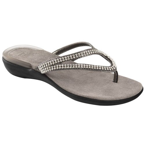 DR.SCHOLL LULU INFRADITO GELACTIVE CON STRASS (37, PEWTER)