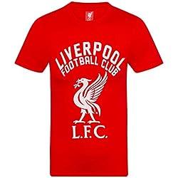 Liverpool FC Camiseta Oficial Para Hombre - Serigrafiada - Rojo - XXL
