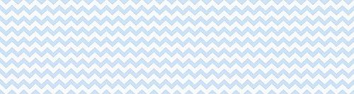 VINILIKO, Alfombra vinilo, Azul Blanco, 80x300 cm