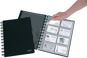 Adoc System-reliure Card-lex Pour 192 Cartes De Visite A4 Noir