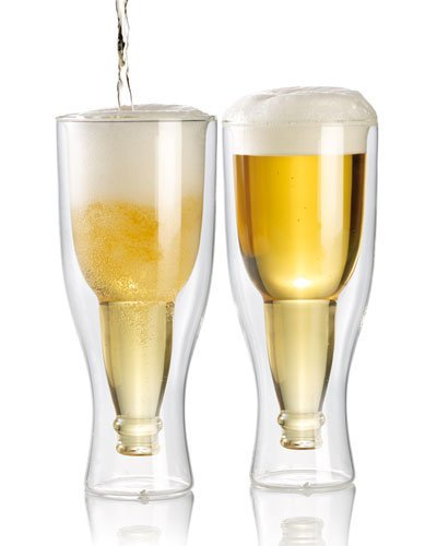 infactory 2 verres à bière à double paroi - 30 cl
