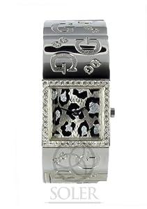 Reloj de mujer Guess G2G Animal 80018L1 de cuarzo, correa de acero inoxidable color plata de Guess