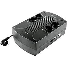 EnerGenie EG-UPS-001 - USV con AVR (650 VA), color negro
