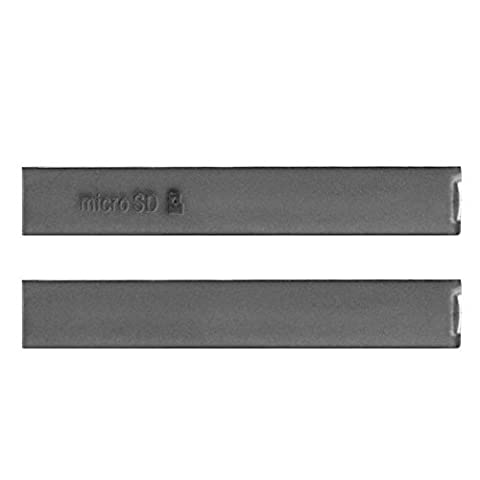Hedywei Kappe Abdeckung Klappe für Sony Xperia Z3 Compact USB Port SD Card Slot Cover schwarzer (Sony Xperia Z3 Micro Sd Card)