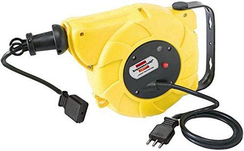 Vakuum-steckdose (Brennenstuhl 1241035300Kabeltrommel 20m + 1,5m Schalter für Wandmontage und Deckenmontage automatic-box Electric EFG Stecker und italienische Steckdose 16A)