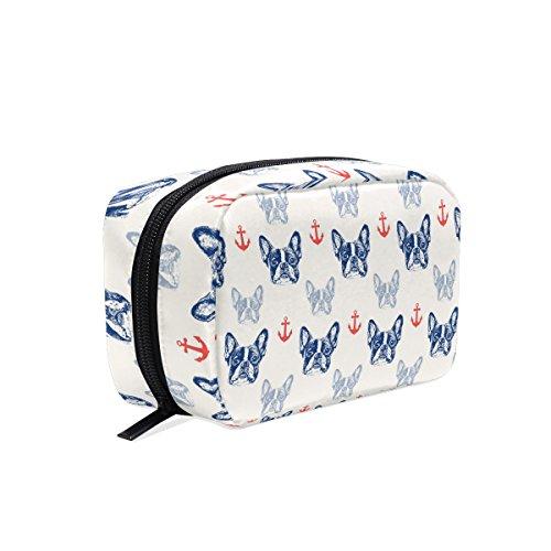 Französische Bulldogge tizorax Welpe Praktische Kosmetik Tasche Kupplung Make-up-Tasche Organizer Reisetasche