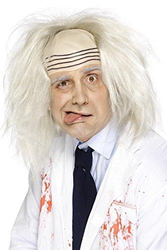 Smiffys, Herren Irren Perücke mit Glatze, One Size, Grau, - Albert Einstein Fancy Dress Kostüm
