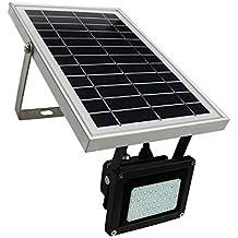 Solar Foco; 54 LED de luz de seguridad para exteriores; Foco lámpara para césped