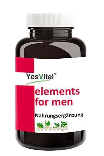 ELEMENTS FOR MEN | Libido, Lust und Manneskraft | 120 Kapseln | yesvital