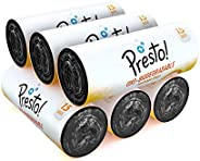 Amazon Brand - Presto! Oxo-Biodegradable Garbage Bags, Large (24 x 32 inches) - 15 bags/roll (Pack of 6)