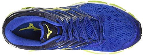 Mizuno Wave Horizon 2, Chaussures de Running Homme Multicolore (Surftheweb/limepunch/eclipse 40)