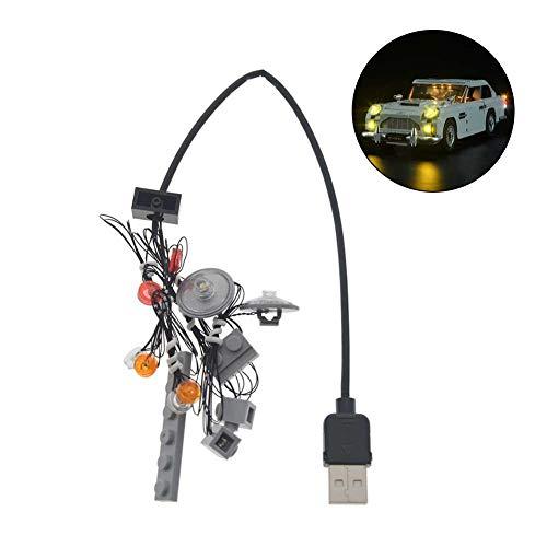 Preisvergleich Produktbild LED Beleuchtung Auto Außen,  Led Beleuchtung Dekoration Für Lego 10262 / Aston Martin DB5 James Bond Light Bricks Spielzeug