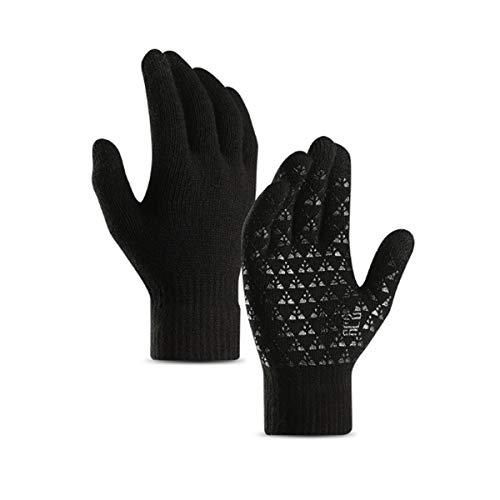 anqier Winter Handschuhe Gestrickte Frauen Männer Touchscreen Gloves Warm Wolle Laufen Radsport Wandern Arbeit Handschuhe