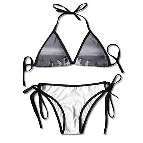 Bikini Swimwear South Pole Antarctic Penguin Ice Womens Sexy Bikini Set Outdoor Swimwear Adjustable Swimsuit 2 Piece -