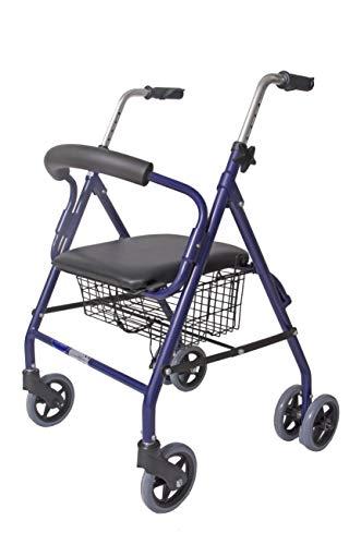 CYMAM BULNES Rollator für Senioren mit 4 Rädern, Blau