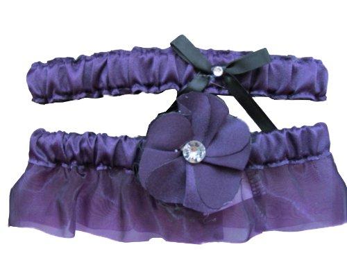 Fantasy-garter (Floral Fantasy Eggplant Garter Set)