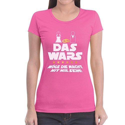Das Wars Mit Mir - JGA Junggesellenabschied Party Frauen T-Shirt Slim Fit Medium Rosa