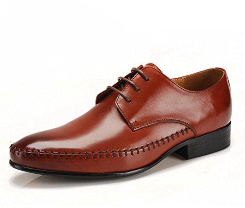 Mode classique Lace Up cuir doublé Angleterre fait peau de vache en cuir chaussures