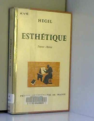 Esthetique par Hegel