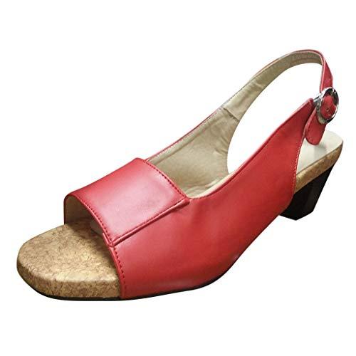 en Sommer Flip Flops Bohemia Rom Frauen Sommer Keile Sandalen Pumps Ankle Buckle Open Toe Casual Sandalen Böhmische Zehentrenner Sommerschuhe Outdoor Schuhe ()