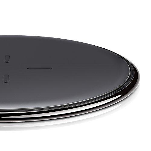 Chargeur sans Fil, ESR Chargeur à Induction Rapide Station de Rechargement sans Fil Qi [Alliage de Zinc] [Ultra fin] [Garantie à Vie] 5W pour iPhone X / iPhone 8 / iPhone 8 Plus, [Charge Rapide] [Fast Charge] 10W pour Samsung Galaxy S9 / S9+ / Note 8 / S8 / S8+ / S7 / S7 Edge (sans adaptateur secteur), Noir