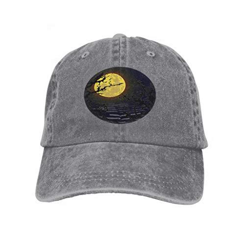 Xunulyn Unisex Trucker Hat Cap Cotton Adjustable Baseball Dad Hat Don t go Walking Woods Horror Halloween Kids Don t go Walkin Gray