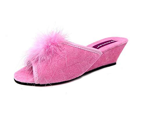 Femmes Dunlop Marilyn Semelle Compensée Pantoufles Mules - Fuchsia, Femmes, EU 39