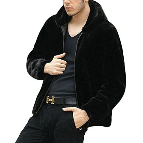 Manteau Classique Long Homme - Ming Manteau de Fourrure Homme Manches Longue