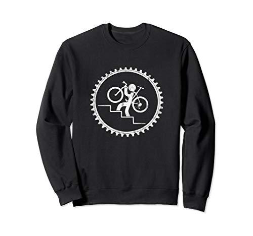 Lustiger Fahrrad Träger Großstadt Biking Radfahrer Sweatshirt