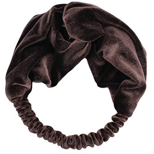 92e6fefcd00298 Xmiral Damen Stirnband Twist Bogen Knoten Kreuz Krawatte Samt Haarband Für  Frauen Headwrap Haarband