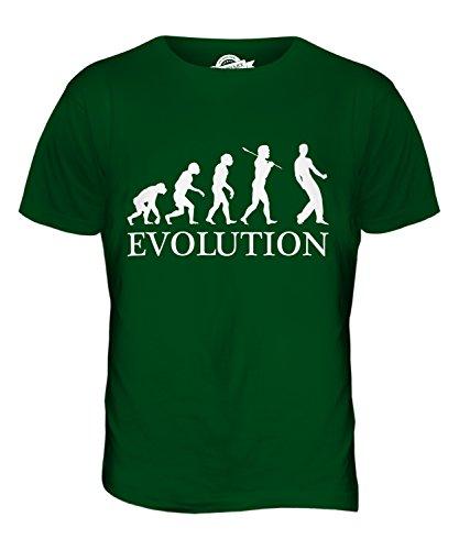 CandyMix Luftgitarre Evolution Des Menschen Herren T Shirt Flaschengrün