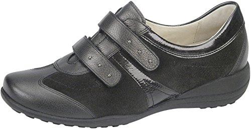 Waldläufer signore Velcro Shoes Katja K 601311-732-846 ardesia Moro braun