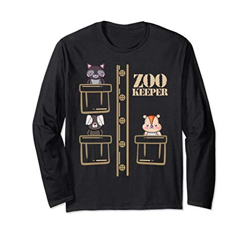 Kostüm Safari Boy - Zoo Keeper Costume Shirt Halloween Safari Adult Men Women Langarmshirt