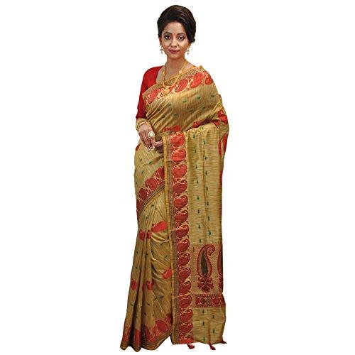 Avik Creations Latest Design Handloom Assam Tassar Art Silk Mekhla Designer Traditional...