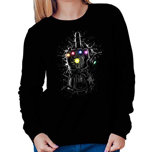 Marvel Avengers Infinity War Gauntlet Flipping The Bird Women's Sweatshirt
