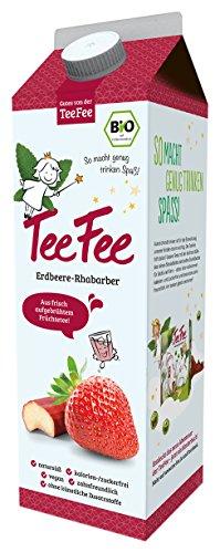 TeeFee  Bio  Eistee mit Erdbeer-Rhabarber, 8er Pack (8 x 1 l)