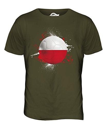 CandyMix Polen Fußball Herren T Shirt Khaki Grün